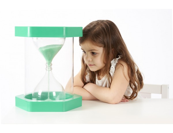 Giant ClearView Sand Timer - 1 Min. Green