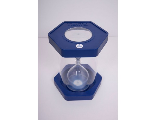 Giant ClearView Sand Timer - 5 Min. Blue