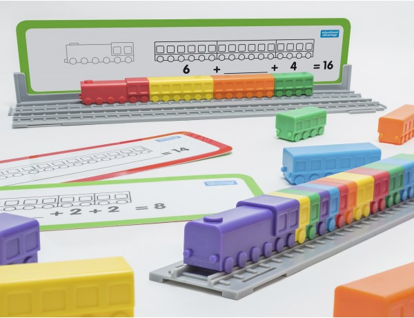 Linking Locos Counting Carriages 3+