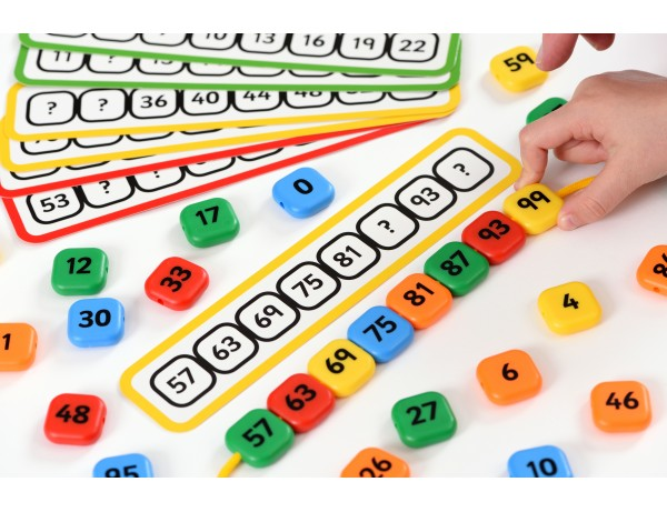 Number Sequence lacing Beads 3+