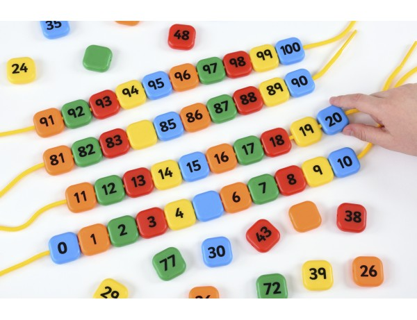 0 - 100 Lacing Number Beads 4+