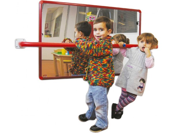Baby Room Mirror with stabilizing padded bar