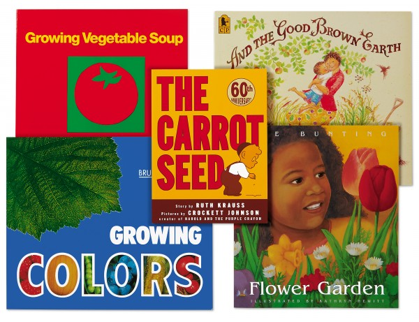 Growing Things Theme Book Library