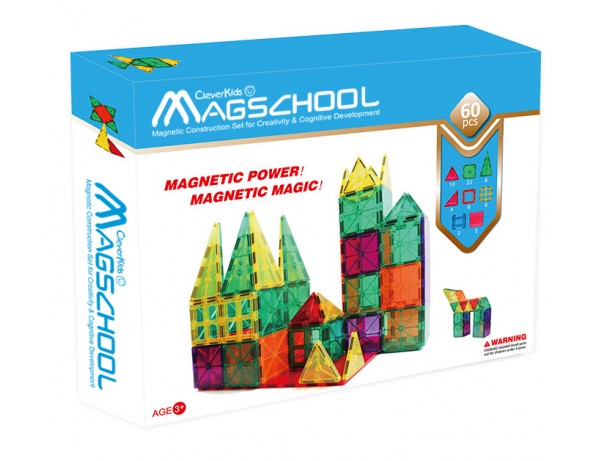 MagSchool Tiles - 60 pieces