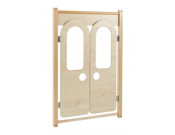 Double door play panel