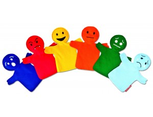 Educational Puppets - Emotions (Set of 6)