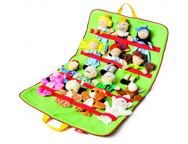 Puppet Case with 14 puppets Set 2