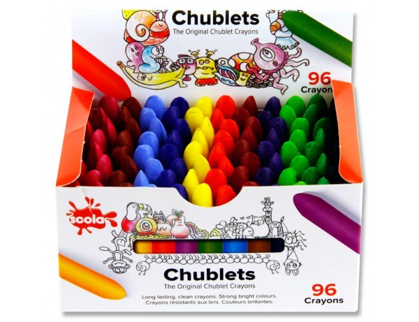 96 Chublets Crayons