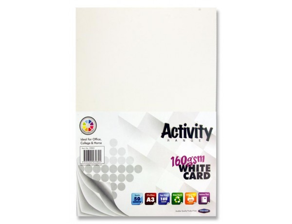 A3 Activity Card (50 sheets) White