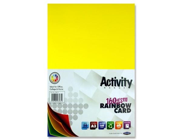 A3 Activity Card (50 sheets) Rainbow