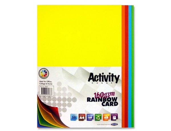 A4 Rainbow Activity Card 50 Sheets