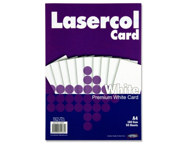 A4 Premium White Card 50 Sheets