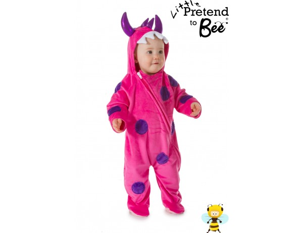 Baby Pink Monster Onesie 1 - 3 Years