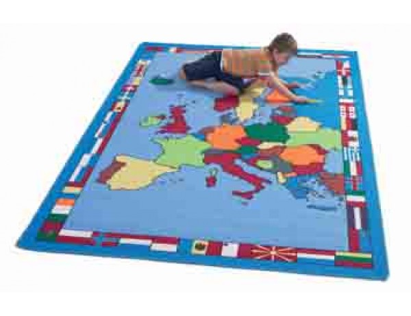 Gigantic European Map Rug