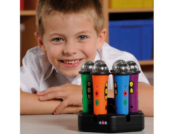 Easi-Speak® Microphones Rainbow 6pk