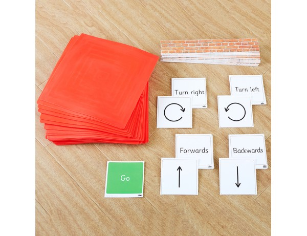 Physical Pre-Coding Mats and Cards Set