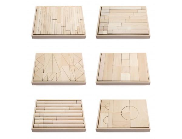 Beech Wood Block 6 Trays Set #1 (18m - 5y)