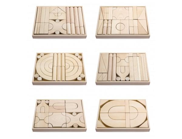 Beech Wood Block 6 Trays Set #2 (18m - 5y)