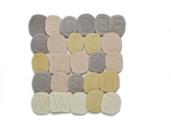 Feels Write Upper case Letter Stones